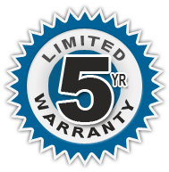 5 Year Limited Warranty Seal