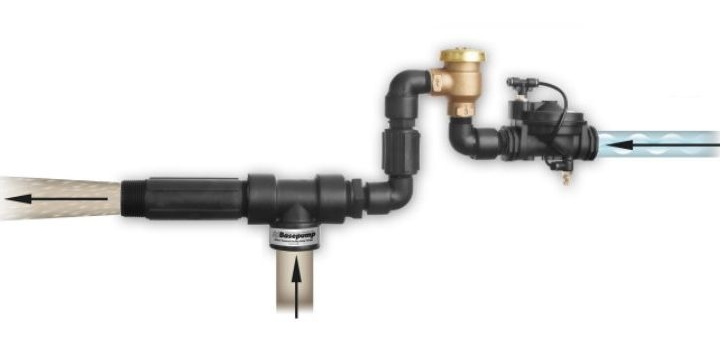 Basepump Ejector with AVB for backflow prevention.